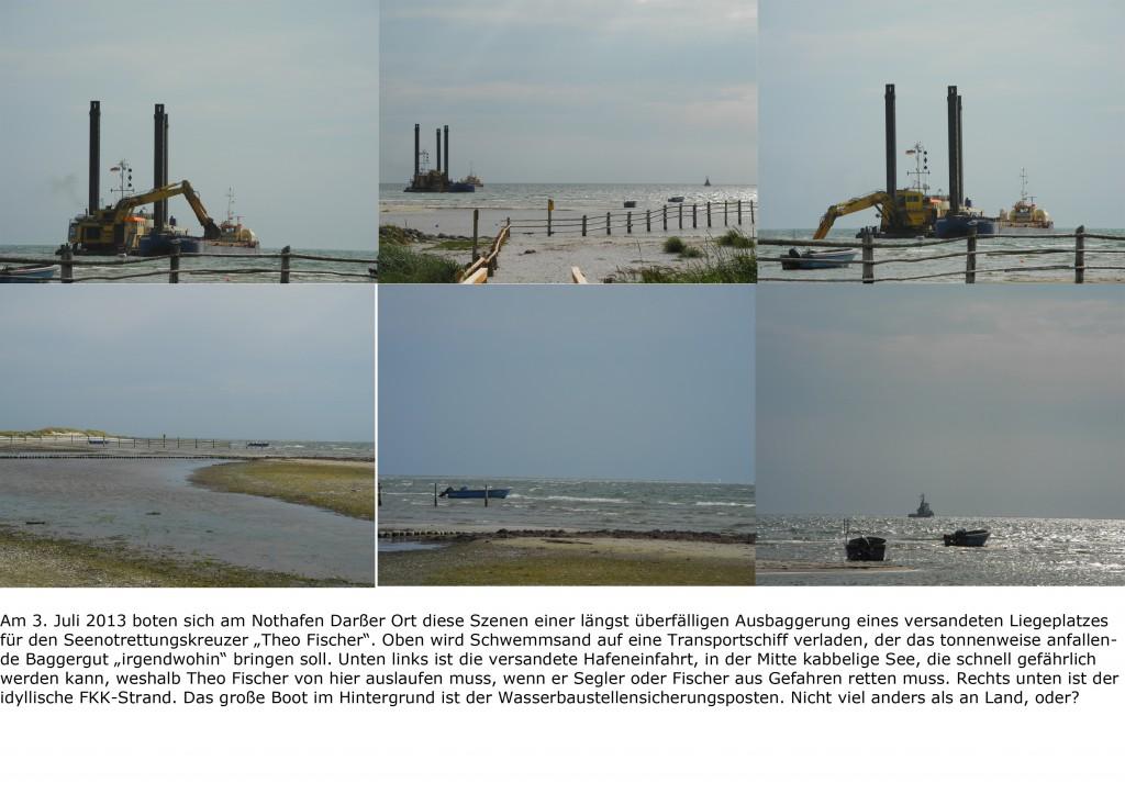 03-07-2013 Sechs Szenen vom Nothafen Darßer Ort