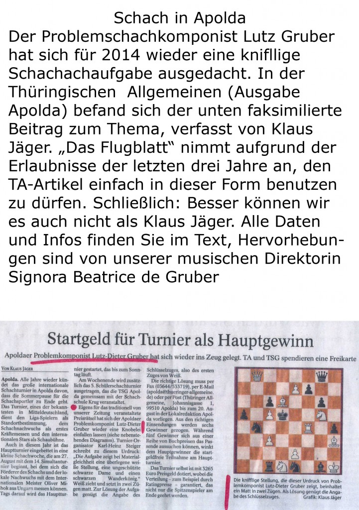 Schach in Apolda
